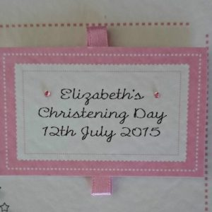 Personalised  Embellished Card Christening Day New Baby Girl or New Baby Boy