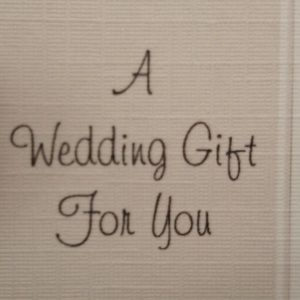 Personalised Wedding Day Money Gift Wallet Linen Texture Suitable Gay Marriage