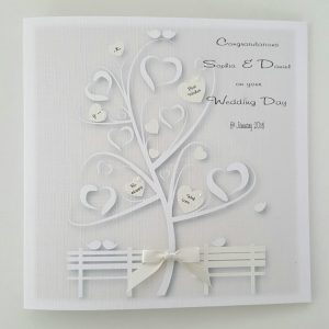 Pretty Personalised Wedding Day Card Ivory Any Relation Any Occasion Any Colour