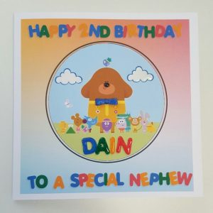 HEY DUGGEE BIRTHDAY CARD PERSONALISED GRANDSON NEPHEW SON GODSON 1ST 2ND 3RD 4TH