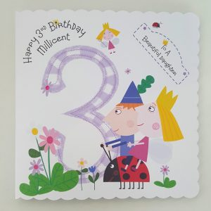 Personalised 8 x 8 3rd Birthday Card Ben & Hollies Little Kingdom Daughter Son Any Relation Any Age Any Colour