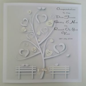 Personalised Renewal Of Vows Card Dear Friends Any Relation, Colour Year (SKU345)