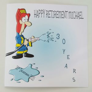 ***Large Personalised Retirement Card Fireman Fire Fighter Fire Service***