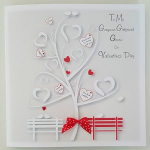 Personalised 8 x 8 Valentines Day Card Girlfriend Boyfriend Any Person Any Occasion Any Colour