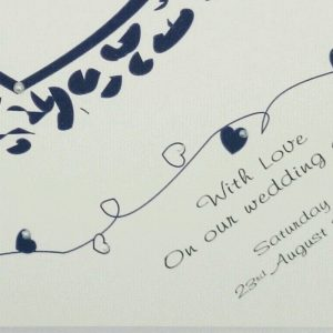 Personalised 8 x 8 Wedding Day Card Bride Wife To Be Cadbury Purple Any Relation Any Colour