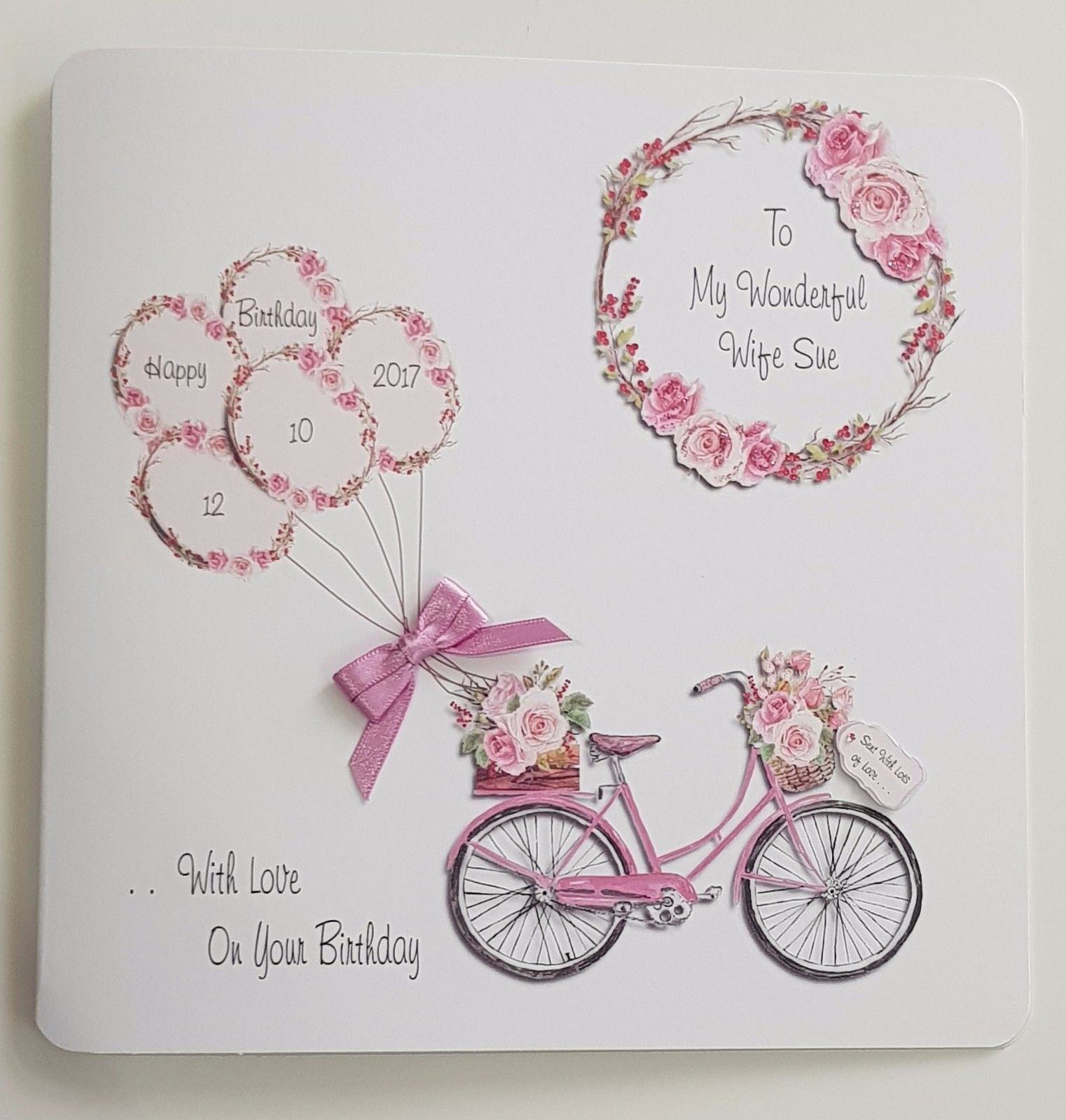 DAUGHTER IN LAW BIRTHDAY GREETING CARD *FLOWERS* Personalised or not Bow Verse