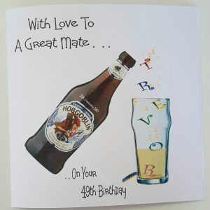 Personalised Birthday Card Beer Mate, Any Beer, Person Or Age (SKU761)