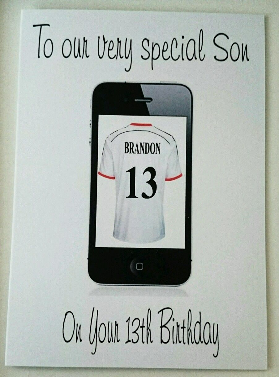 Personalised Birthday Card Son 13th