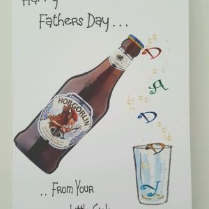 Personalised Fathers Day Card Daddy Pops Hobgoblin Beer Any Relation Any Tipple